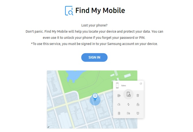 قابلیت Find My Mobile